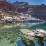 The fascinating harbor on the caldera of Santorini