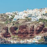 The fascinating harbor on the caldera of Santorini