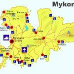 Map of Mykonos Beaches