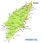 Rhodes Greece Map