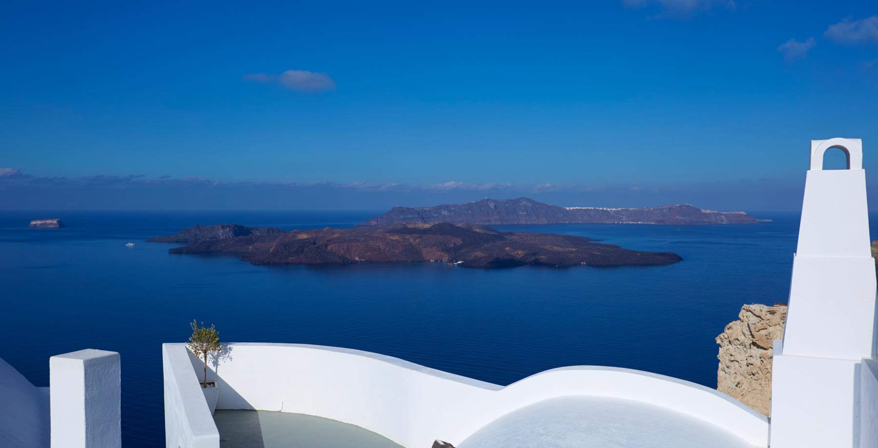 santorini hotel with view