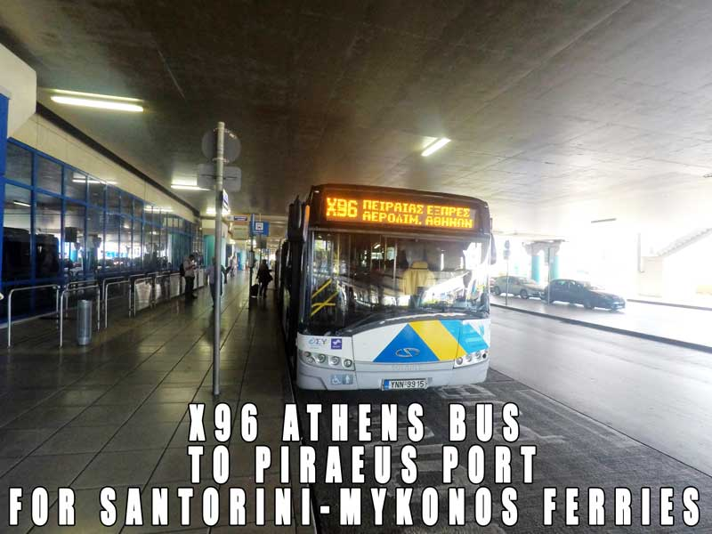 x96 bus athens airport