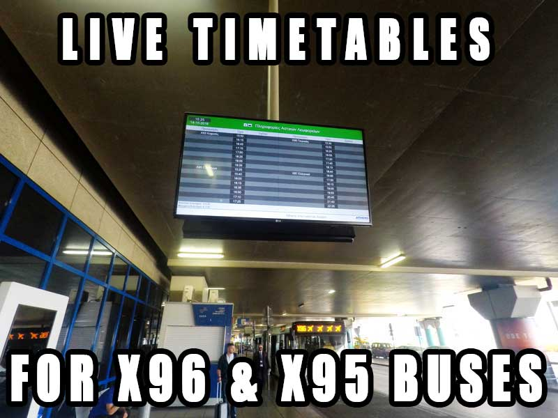 x96 bus athens airport timetables