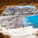 Matala Crete Greece, Red Beach Matala & Town info