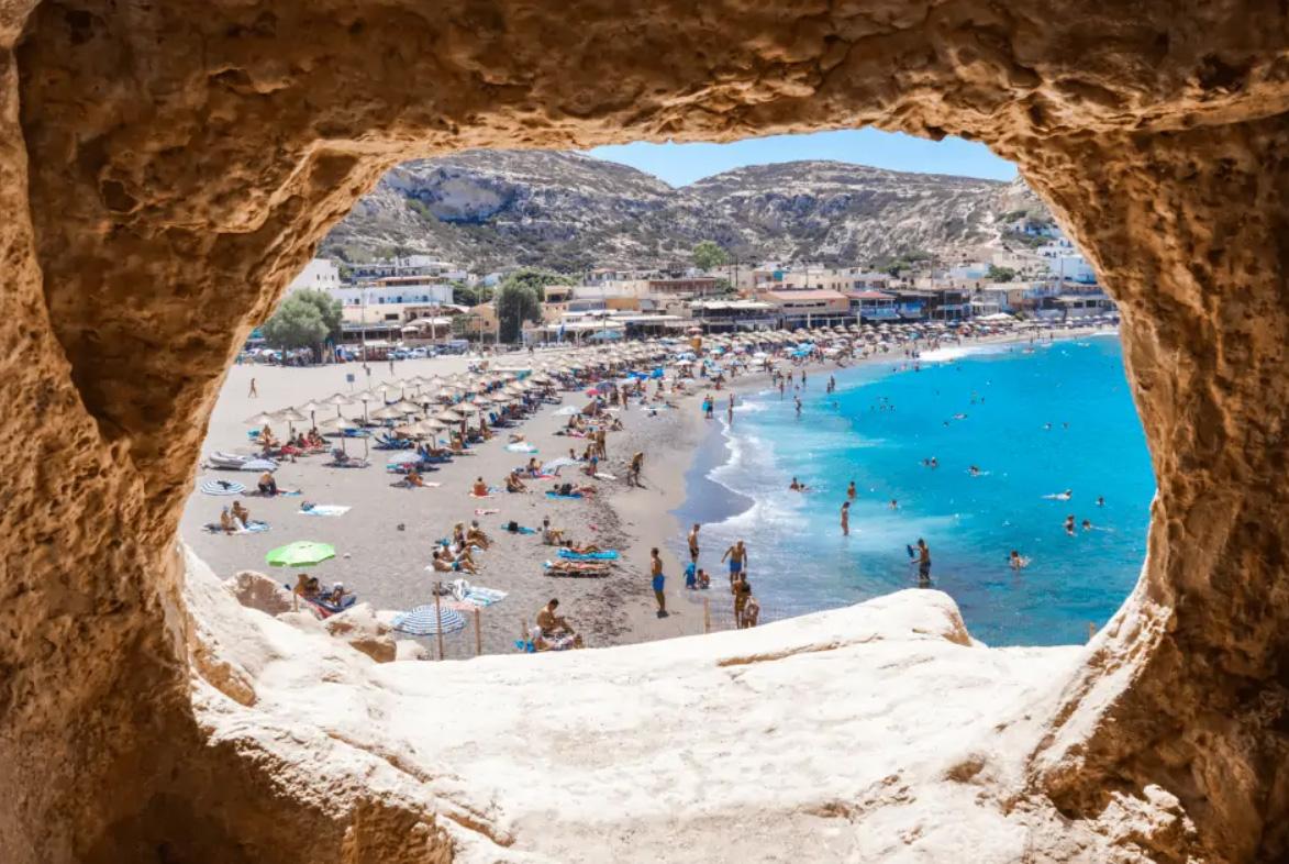 Matala Crete Greece