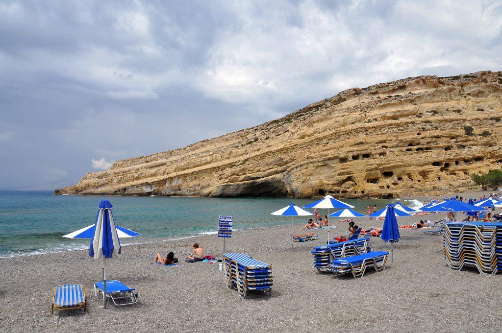 Beach Matala Greece