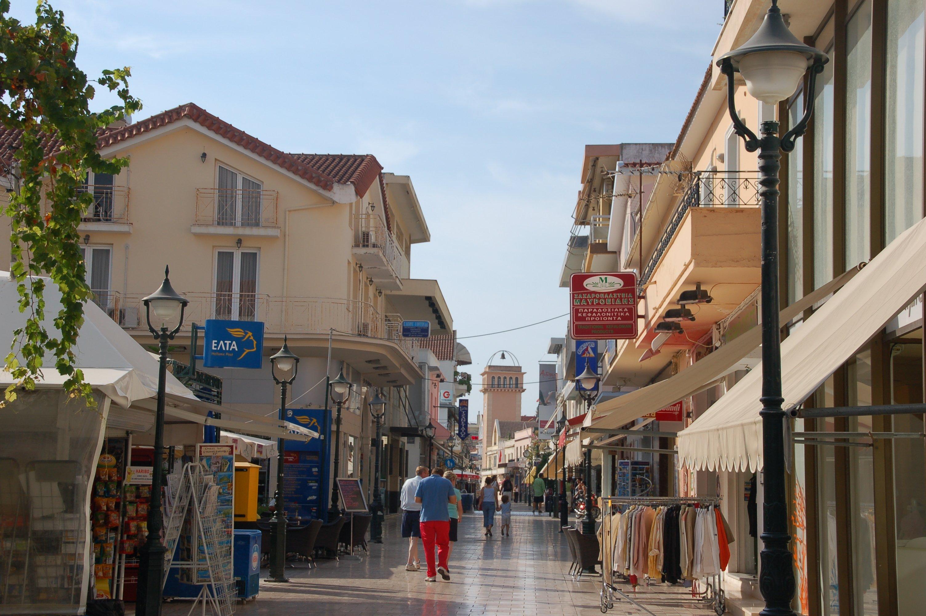 Argostoli Kefalonia Greece Streets